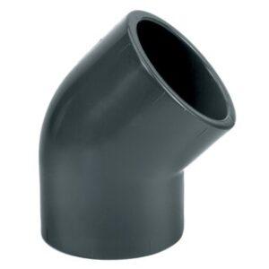 DRUK PVC bocht 45° 2 x lijm