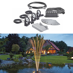 Floating fountain lighting set